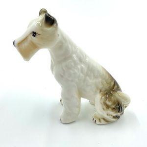 Vintage Terrier Dog Sitting Figurine Statue